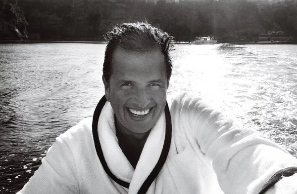Towel Series 101- a self portrait by Mario Testino