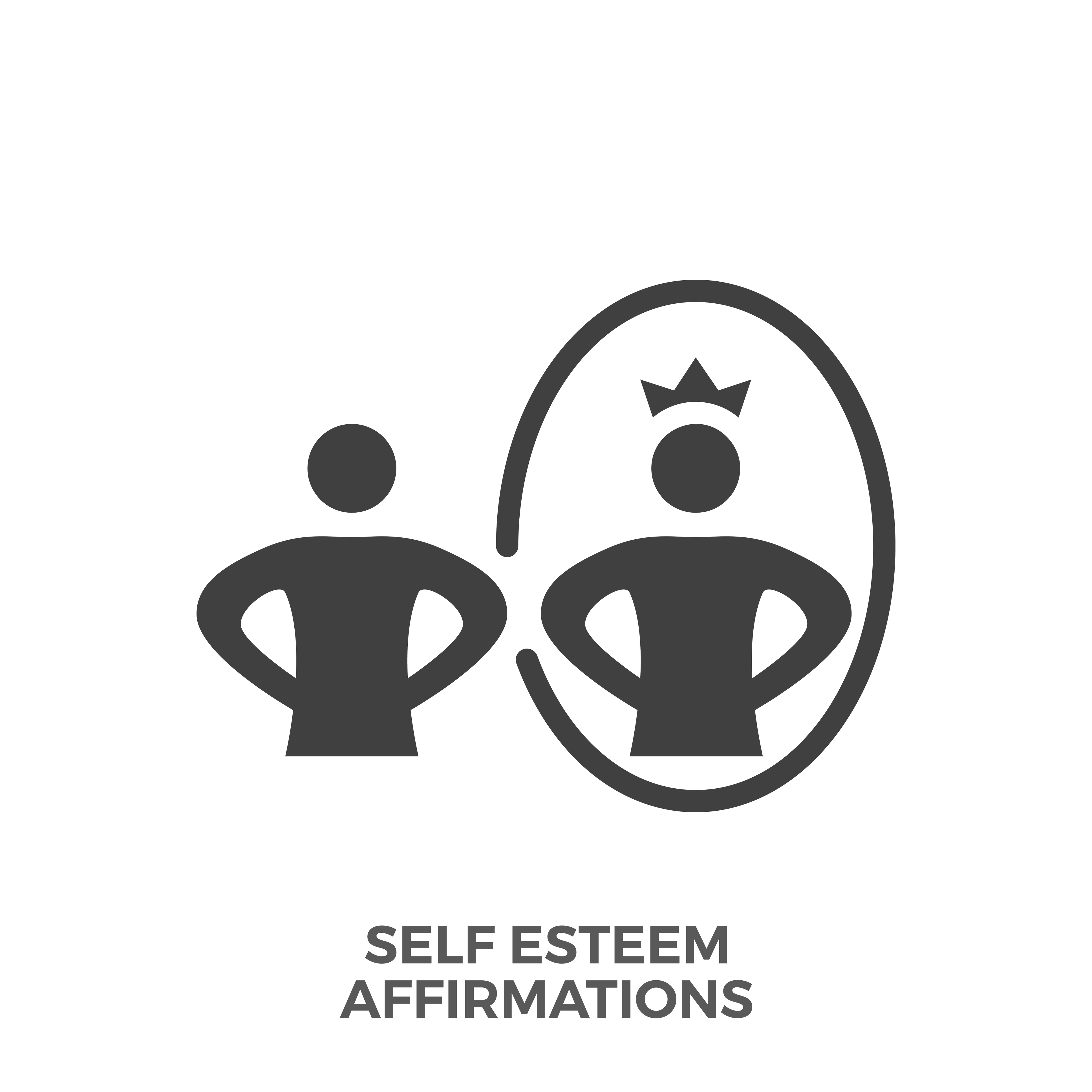 Self Esteem Affirmations Glyph Vector Icon.